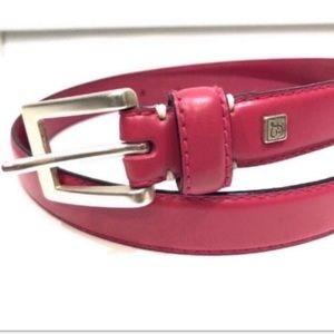 Fossil Pink Leather Belt